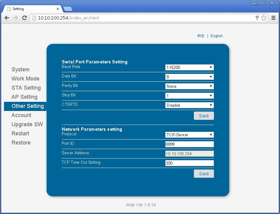 Arduino Wifi With Hi Flying HF-LPT100 / USR-WIFI232-T